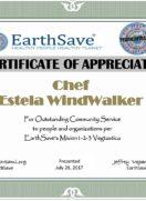 Thanks, Chef Estela…TeamEarthSave
