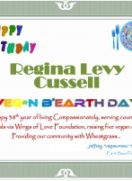 Happy 38th Vegan B'EarthDay, Regina