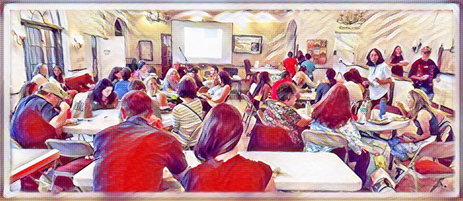 A watercolor rendering of one of our latest GoVean event.