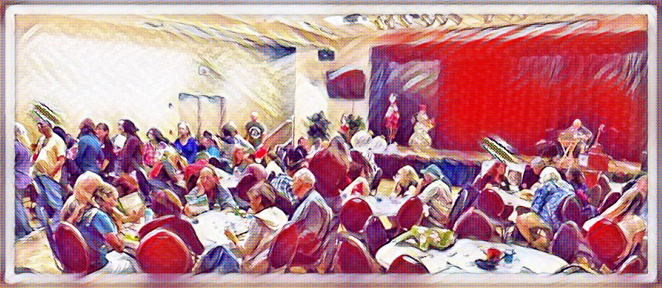 A watercolor rendering of one of our latest TryVegan events.